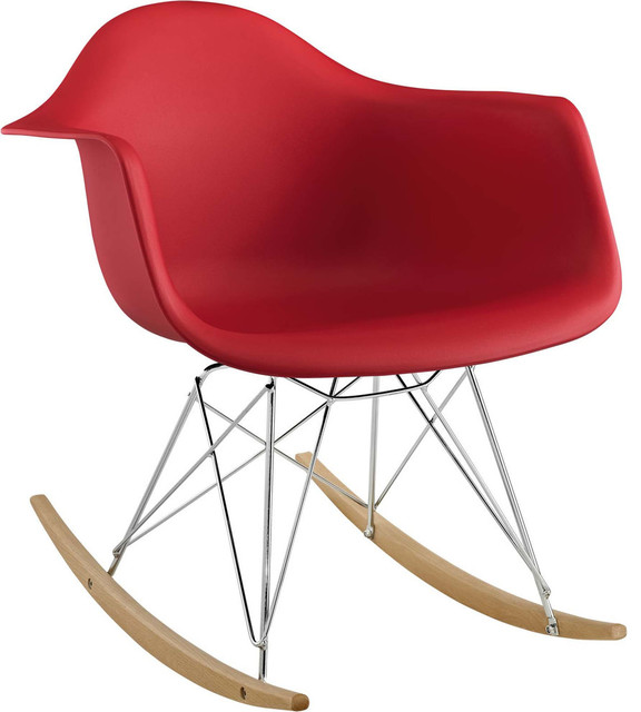 Trasna PP Plastic Lounge Chair, Red