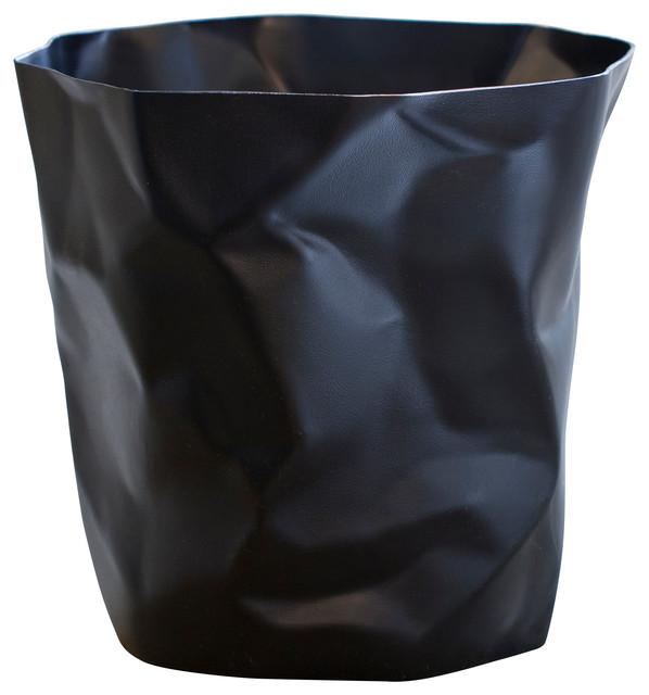 Waste Baskets Custom Essey Wastebasket Black  Contemporary  Wastebaskets . Design Inspiration