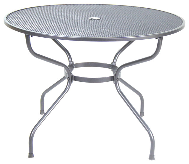Steel Mesh Round Table 42 Contemporary Outdoor Dining Tables