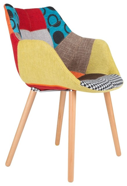chaise capitonn e twelve patchwork couleur multicolore scandinave fauteuil par. Black Bedroom Furniture Sets. Home Design Ideas