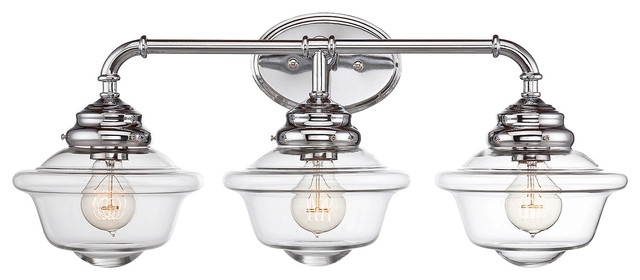 Hampton Bay 2 Light Chrome Bath Light 05659: Savoy House Fairfield 3 Light Bath Bar In Chrome