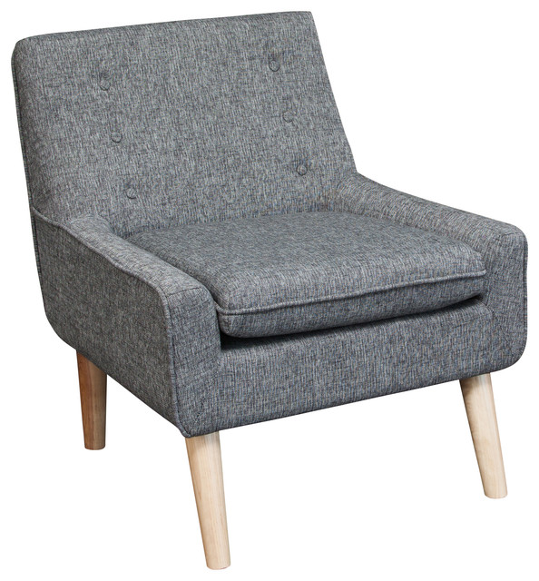 Brockston Fabric Accent Chair, Charcoal Gray Midcentury Armchairs  And Accent Chairs