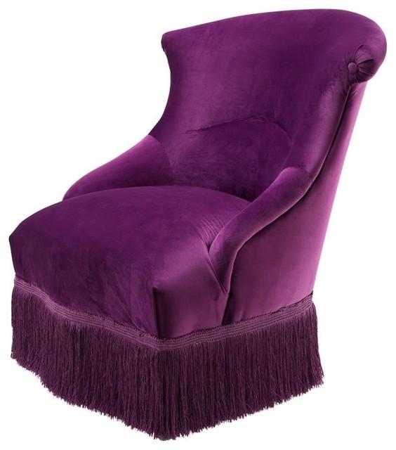 Ordinaire Purple Lounge Chair, Eichholtz Etoile, Black, ...