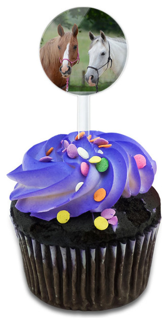 Just Horsing Around Cupcake Toppers Picks Set.