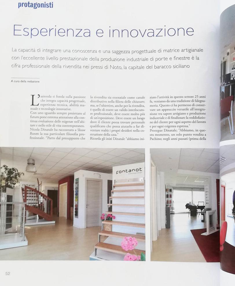 La Dinatale porte&infissi sulla rivista SHOWROOM-porte&finestre