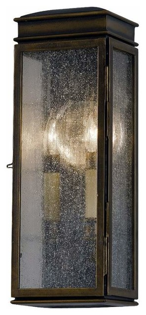 Whitaker 2-Light Outdoor Wall Lights, Astral Bronze.