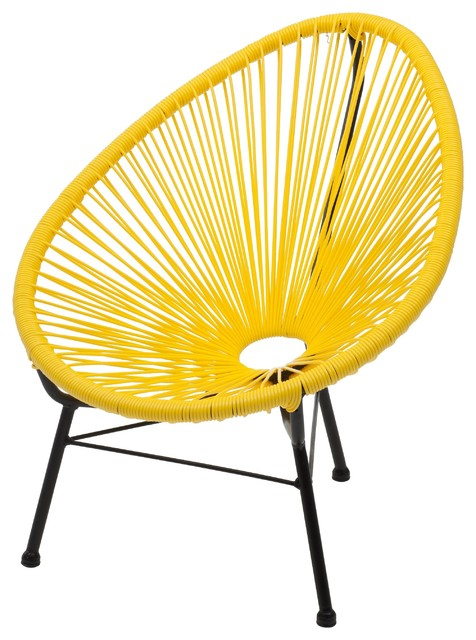 Kids Acapulco Indoor And Outdoor Lounge Chair, Yellow