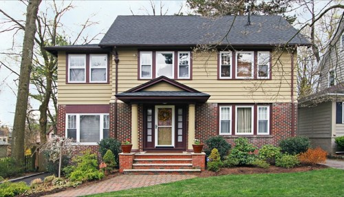 Help choosing paint for exterior red brick with clapboard for Change exterior of house