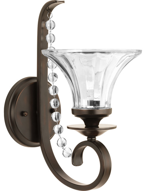 Bathroom Vanity Lights Traditional : Progress Lighting Bliss 1-Light Bath and Vanity Fixture - Traditional - Bathroom Vanity Lighting ...