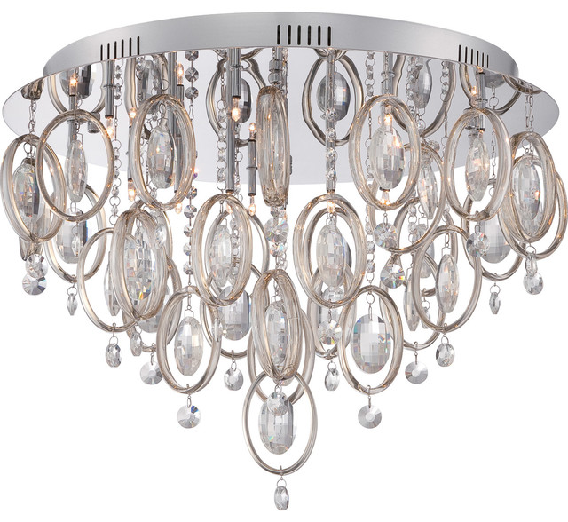 Quoizel Platinum Collection Ella Flush Mount, Polished Chrome.