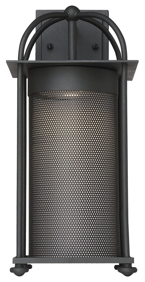 """Savoy House 5-231 Sierra 1 Light 16/""""H Integrated LED Outdoor Wall Black"""