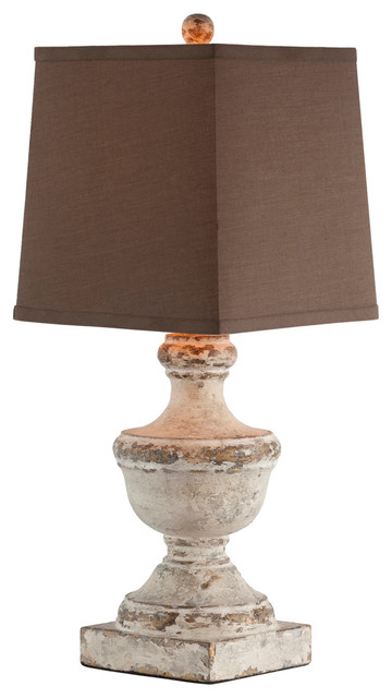 Nice Truro Square Linen Shade Petite French Country Lamp Traditional Table Lamps