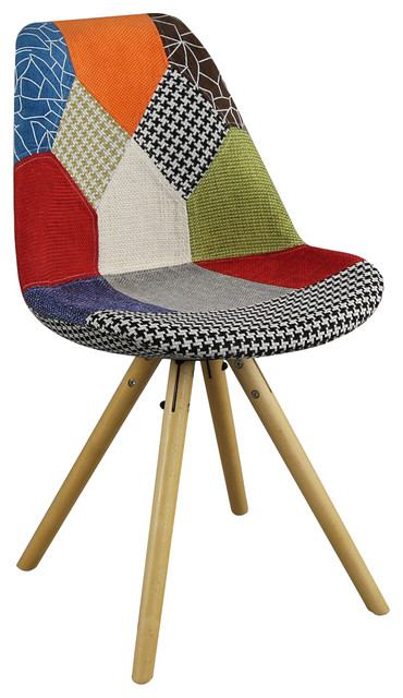 Patchwork Star Tulip Dining Chair - Eclectic - Dining ...