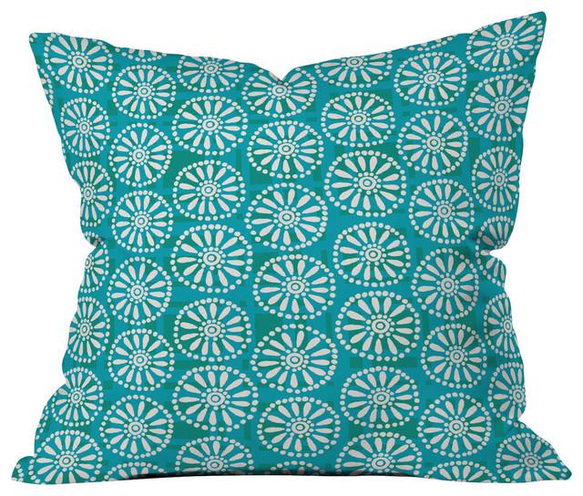 Zoe Wodarz Daisy Plaid Outdoor Throw Pillow