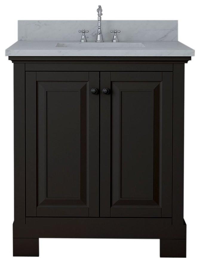Harrisburg 30 Single Bathroom Vanity Espresso Transitional Bathroom Vanities And Sink Consoles By Kolibri Decor Houzz