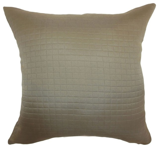 Maertisa Quilted Pillow Espresso - Contemporary - Decorative Pillows - by The Pillow Collection