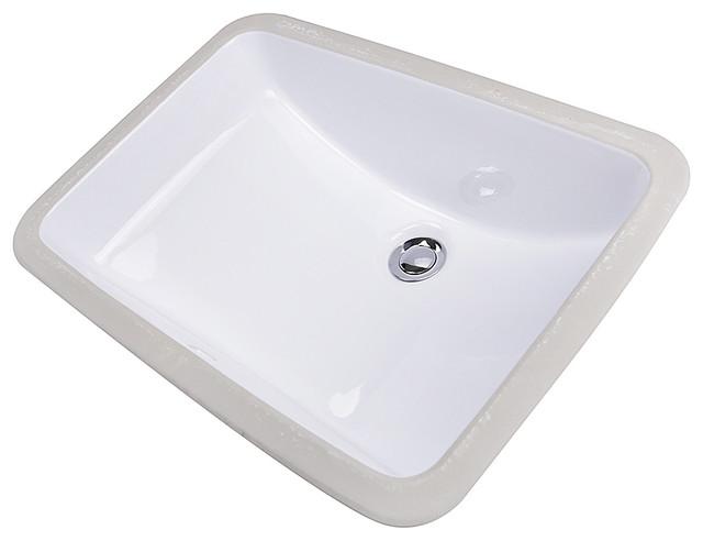 "Nantucket Sinks 18""x12"" Glazed Bottom Ceramic Undermount Rectangular Sink."