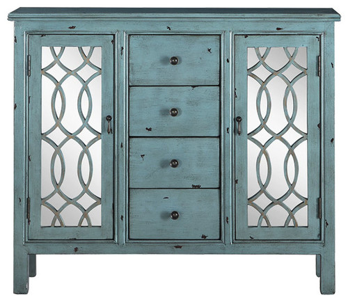 Coaster French Country Antique Blue Accent Cabinet