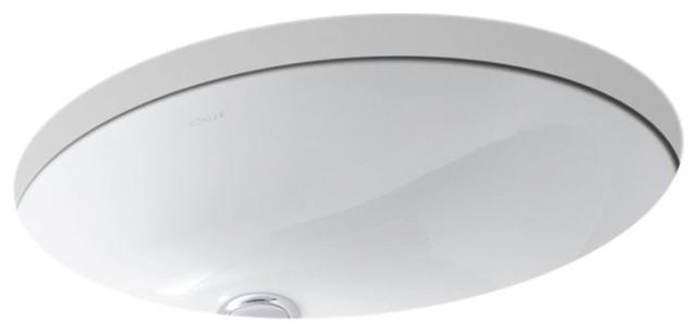 Kohler Caxton Oval Undermount Bathroom Sink White 17 X14