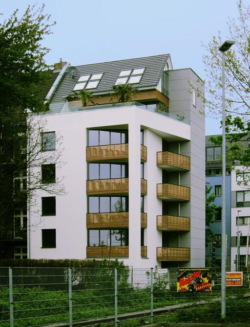 neubau modernes mehrfamilienhaus modern d sseldorf. Black Bedroom Furniture Sets. Home Design Ideas