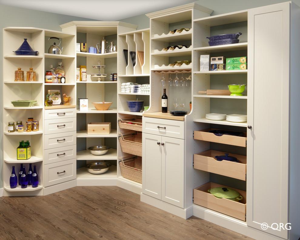 Elegant kitchen pantry photo in Atlanta