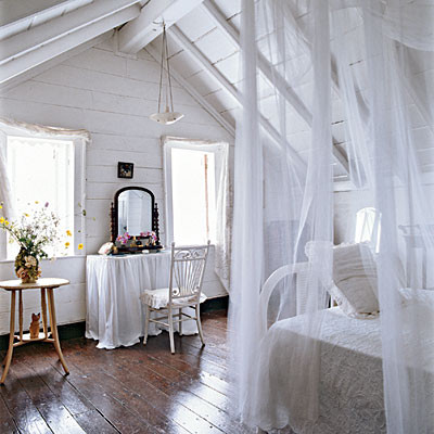 coastal attic bedroom - 50 Comfy Cottage Rooms - Photos - CoastalLiving.com