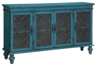 4-Door Media Credenza - Contemporary - Entertainment ...
