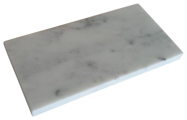 "Italian Carrara Marble Subway Tile, Polished, 3""x6"" Tiles, Set of 40"