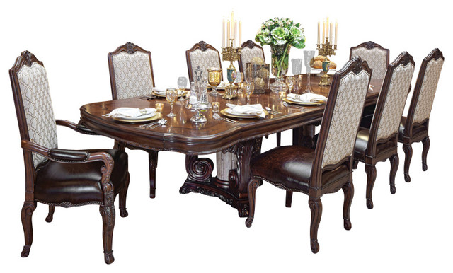 victoria palace 7 piece dining table set victorian dining sets by warehouse direct usa. Black Bedroom Furniture Sets. Home Design Ideas