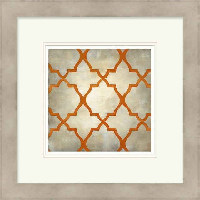 Contemporary Wall Decor Square Orange-Gray wall art contemporary -prints-and-posters