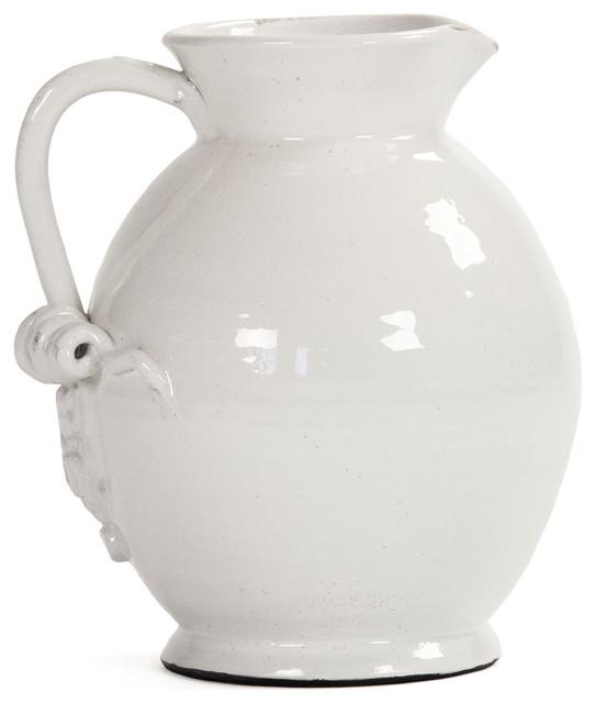 White Ceramic Pitcher Vase Vase And Cellar Image Avorcor