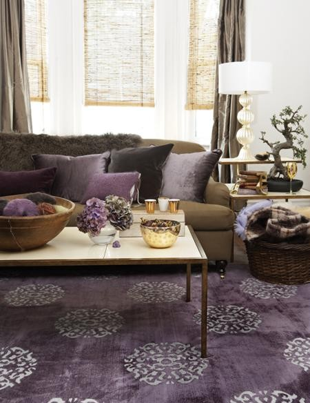 purple in the room contemporary living room