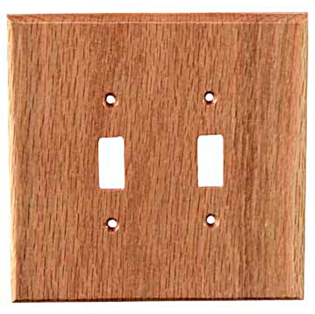 Traditional toggle red oak switch