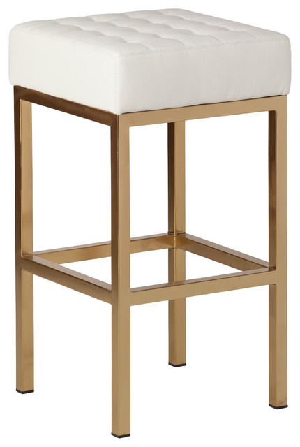 Jezebel Champagne Gold Stool Contemporary Bar Stools