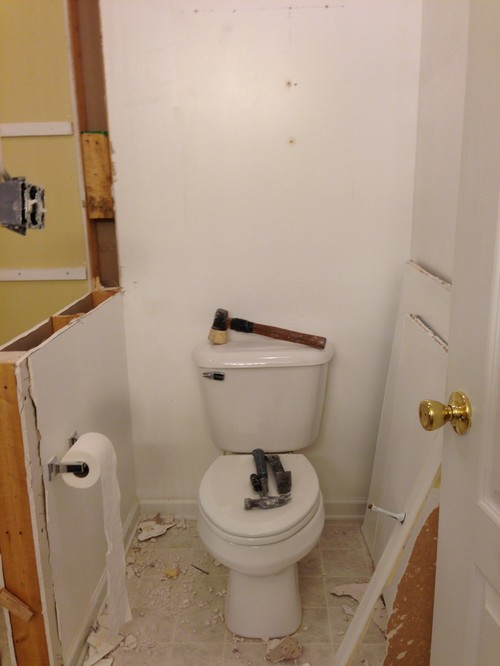 Leave The Toilet Wall Divider Or Remove - Bathroom room divider