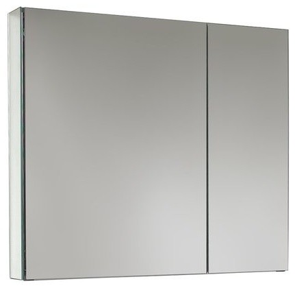 "Fresca 30"" Wide Bathroom Medicine Cabinet With Mirrors."
