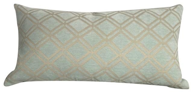 Royal Diamond Mint 14x26 Feather Filled Decorative Throw Pillow Cushion.