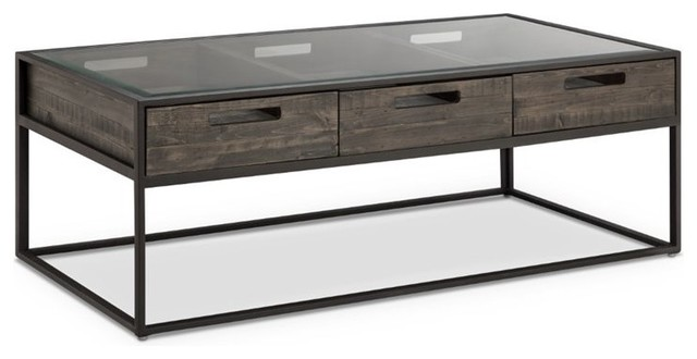 Magnussen Claremont Rectangular Cocktail Table, Weathered Charcoal T4034-43.