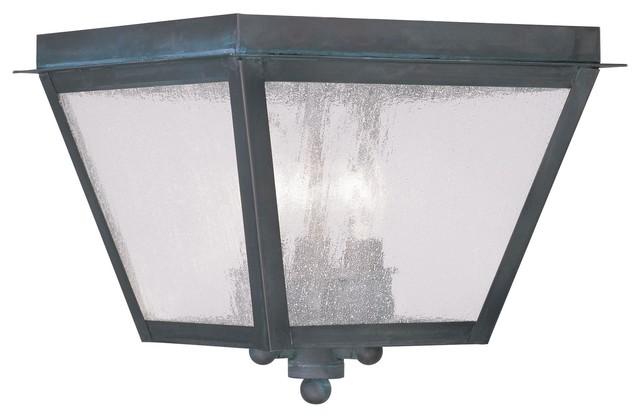 Livex Lighting 2549 Amwell Outdoor Flush Mount Ceiling