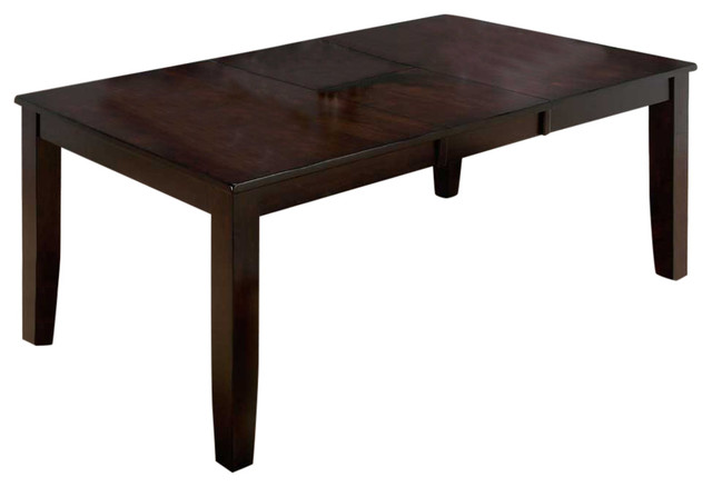 Shop Houzz Jofran Dark Rustic Prairie Dining Table With Butterfly Leaf Di