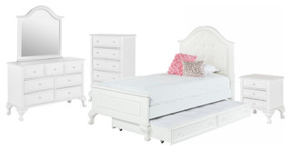 Jenna 5-Piece Bed Set With Trundle, Twin