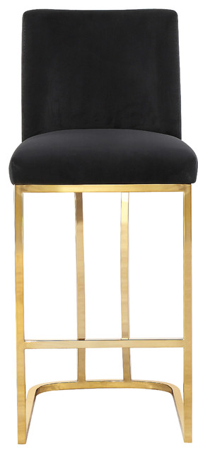 Awesome Heidi Velvet Counter Stool Black Machost Co Dining Chair Design Ideas Machostcouk