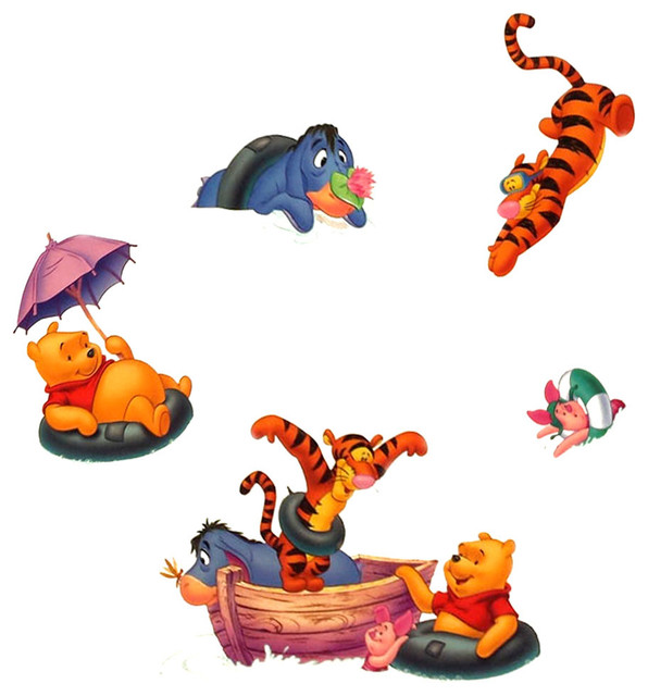 Winnie Pooh Foam Stickers Storybook 3D Wall Decals - Contemporary ...