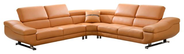 Admirable 3 Piece Sectional Orange Machost Co Dining Chair Design Ideas Machostcouk