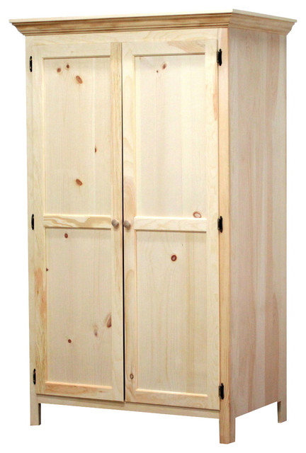 Solid Pine Panel Door Wardrobe - Contemporary - Armoires And Wardrobes - by Gothic Furniture