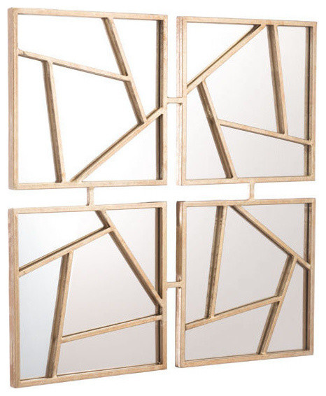 Four Faces Mirror, Gold.