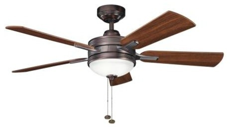 "52"" Logan Ceiling Fan, Oil Brushed Bronze."