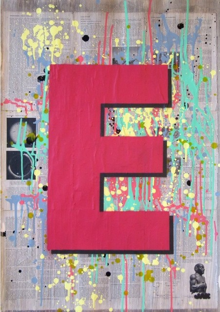 """E1"",Spray Paint Painting"