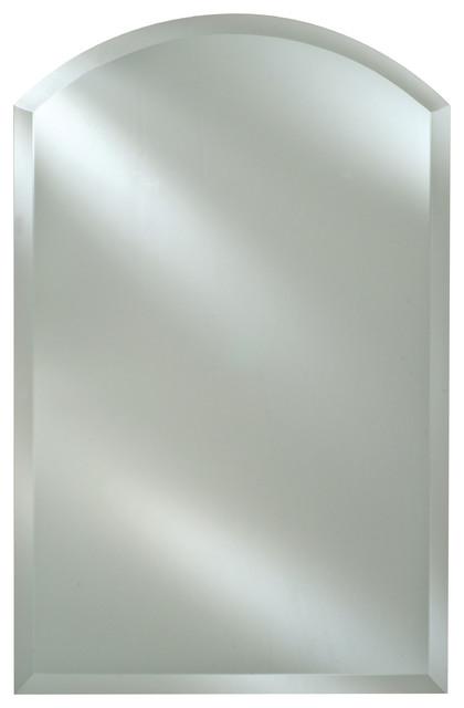 Afina Radiance Frameless Bevel Arch Top Mirrors, 20x35.