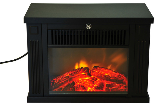 Homcom 14 1000w Free Standing Electric Fireplace, Black.